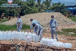 40.62 tons of counterfeit alcohol (Methanol) is confiscated from the market and destroyed by Directorate-General CCF