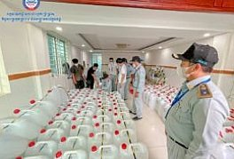 Around 7,000 liters of counterfeit alcohol or methanol was cracked down by the Directorate-General CCF in Po Sen Chey District
